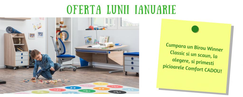 Oferta lunii: cumpara un birou ergonomic pentru copii Winner Classic si un scaun ergonomic de birou, iar noi iti facem upgrade la biroul Winner Comfort!